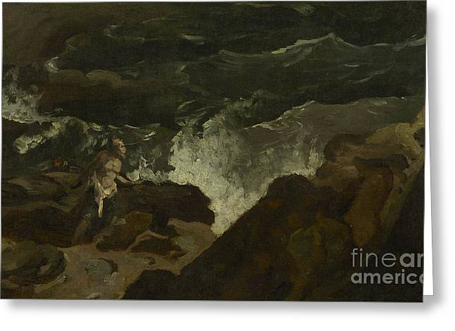 Shipwrecked On A Beach Greeting Card by Theodore Gericault