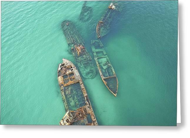 Shipwrecks Greeting Card