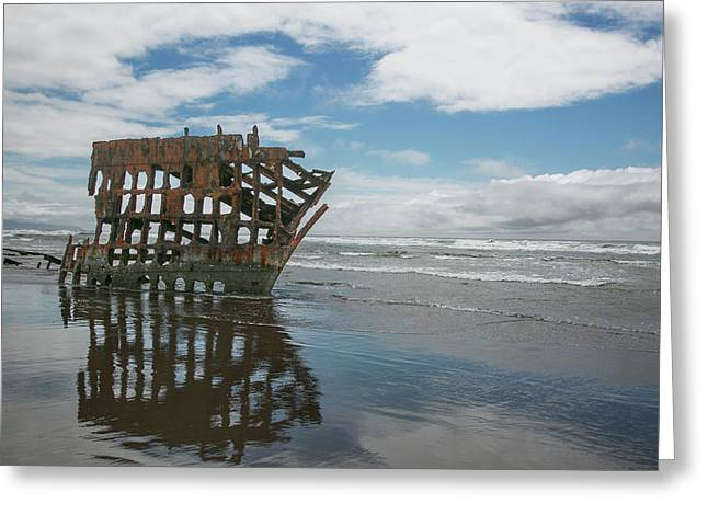 Greeting Card featuring the photograph Shipwreck by Elvira Butler