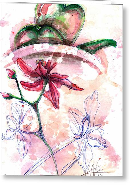 Shiraz Orchid II Greeting Card