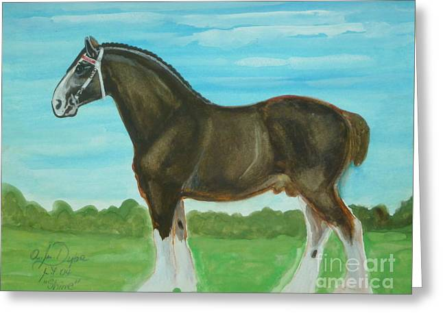 Shire Horse Greeting Card