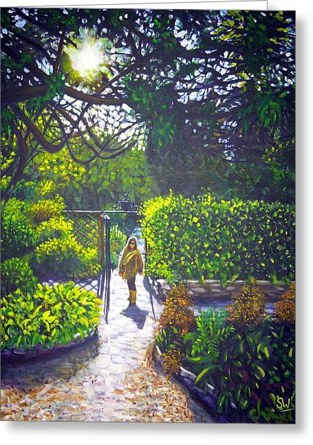 Shirley At Chalice Well Greeting Card