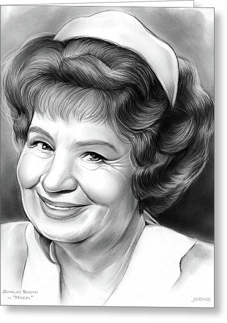 Shirley Booth Greeting Card by Greg Joens
