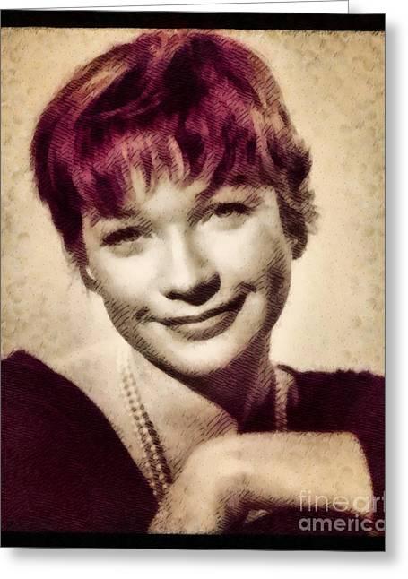 Shirley Maclaine, Hollywood Actress By John Springfield Greeting Card by John Springfield