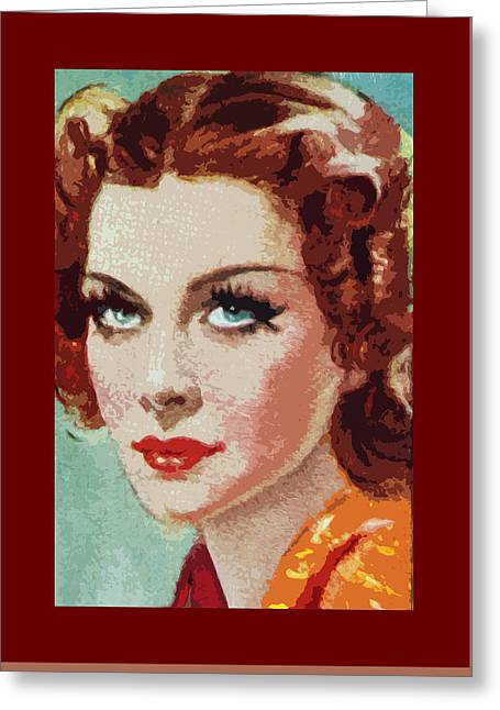 Shirley Ross Greeting Card by James Hill