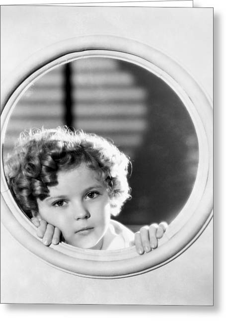 Shirley Temple (1928-2014) Greeting Card by Granger