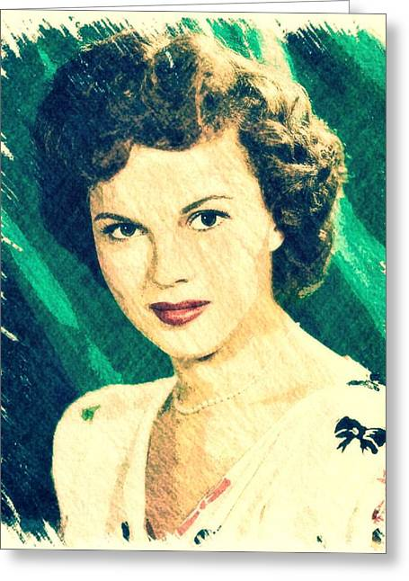 Shirley Temple By John Springfield Greeting Card by John Springfield