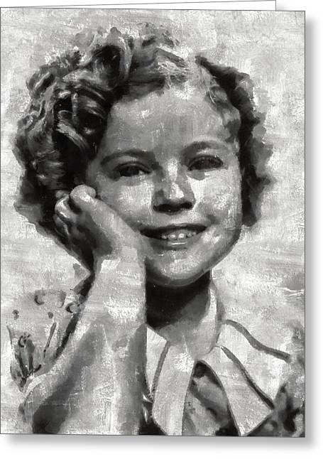 Shirley Temple By Mary Bassett Greeting Card by Mary Bassett