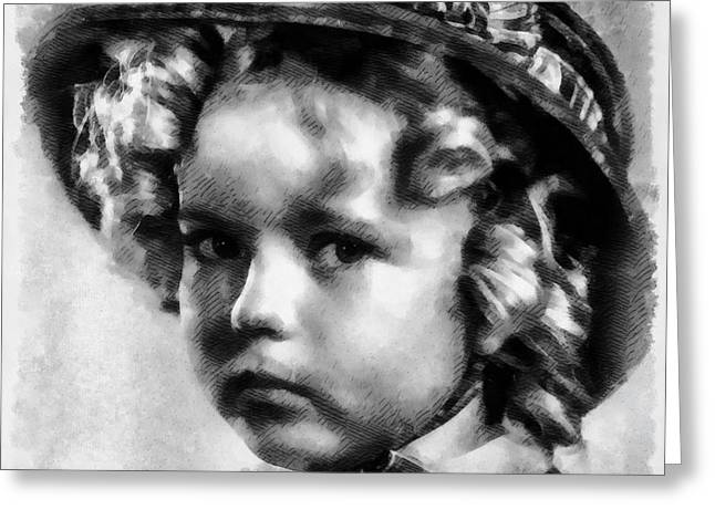 Shirley Temple Vintage Actress Greeting Card