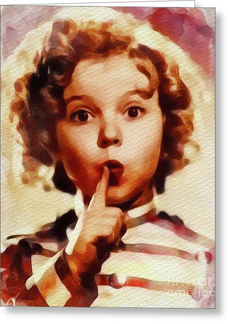Shirley Temple, Vintage Movie Star Greeting Card