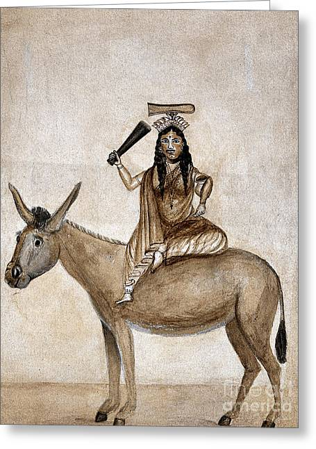 Shitala Mara, Hindu Goddess Of Smallpox Greeting Card