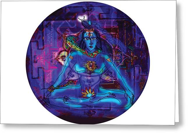 Shiva In Meditation Greeting Card