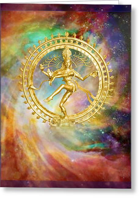 Shiva Nataraja - The Lord Of The Dance Greeting Card by Ananda Vdovic