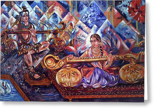 Shiva Parvati Greeting Card
