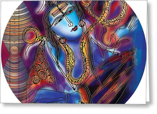 Shiva Playing The Drums Greeting Card