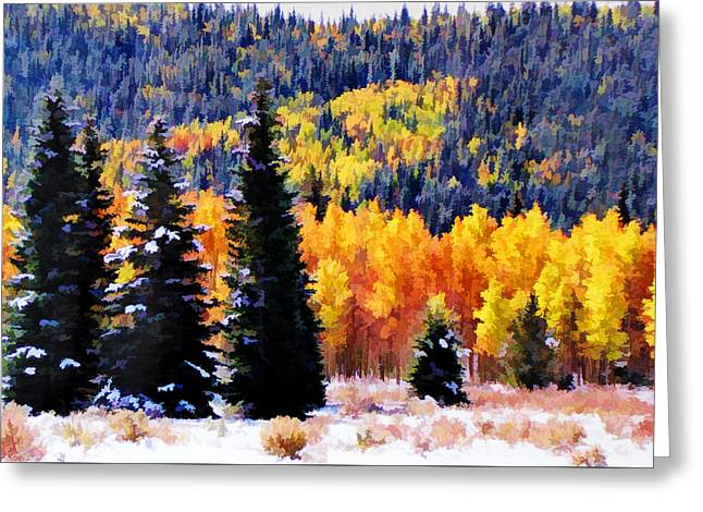 Shivering Pines In Autumn Greeting Card