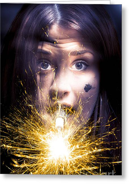 Shocked Greeting Card by Jorgo Photography - Wall Art Gallery