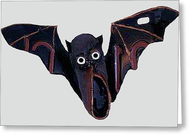 Shoe Bat Greeting Card by Bill Thomson