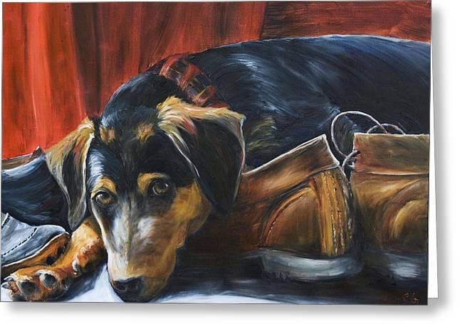 Shoe Dog Greeting Card by Nik Helbig