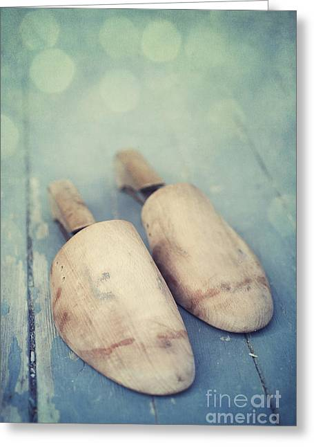 Decorativ Photographs Greeting Cards - Shoe Trees Greeting Card by Priska Wettstein