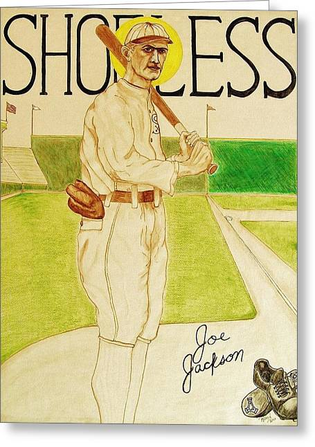 Shoeless Joe Jackson Greeting Card