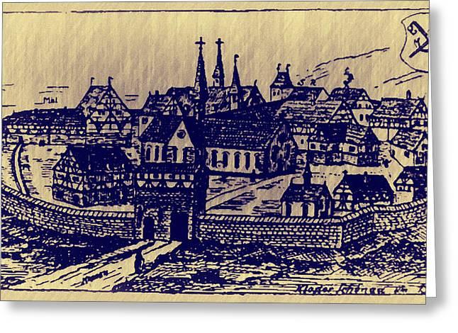 Shoenou Monastary Germany Greeting Card by Bill Cannon