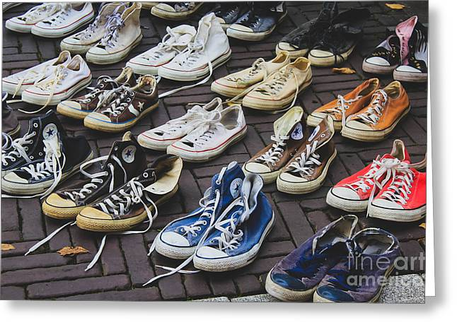 Shoes At A Flea Market Greeting Card
