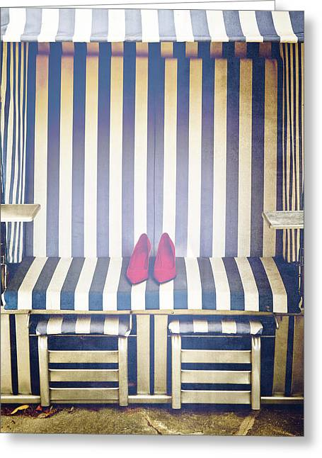 Shoes In A Beach Chair Greeting Card by Joana Kruse