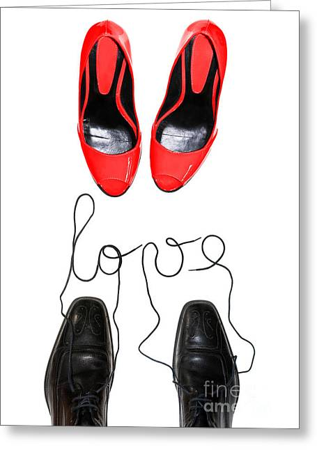 Shoes In Love Greeting Card by Delphimages Photo Creations