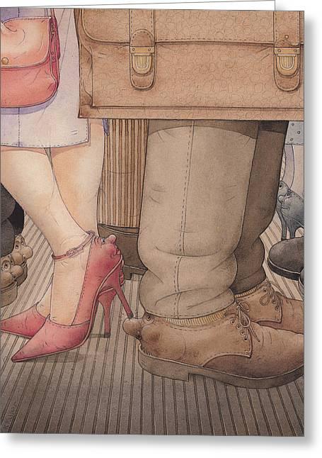Shoes Greeting Card by Kestutis Kasparavicius