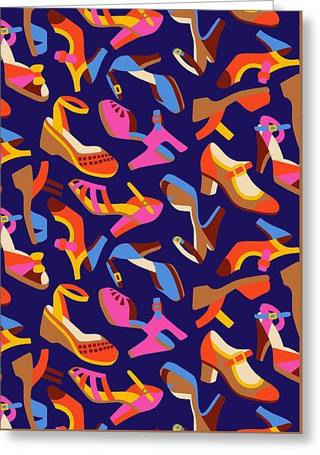 Shoes Greeting Card by Sholto Drumlanrig