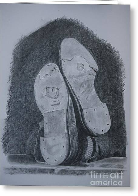 Shoes Greeting Card by Teresita Abad Doebley