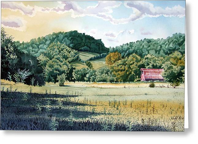 Tennessee Barn Greeting Cards - Shoffner Highway View Greeting Card by Jeff Atnip