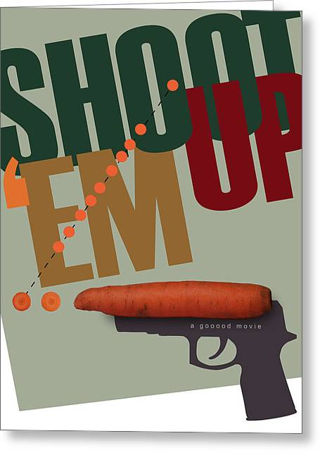Shoot 'em Up Movie Poster Greeting Card