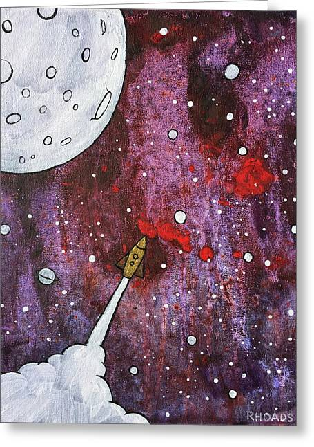 Greeting Card featuring the painting Shoot For The Stars by Nathan Rhoads