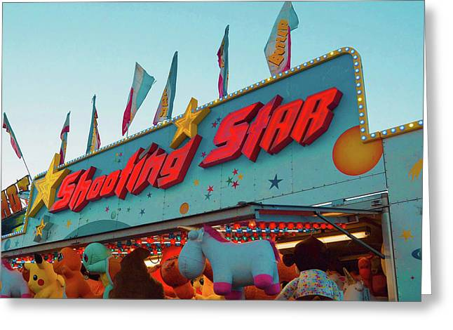 Greeting Card featuring the photograph Shooting Star by Cindy Garber Iverson