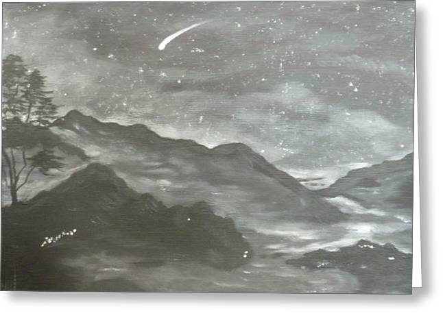 Shooting Star  Greeting Card by Irina Astley