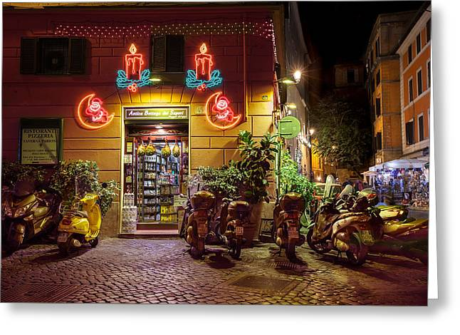 Shop In Rome Greeting Card