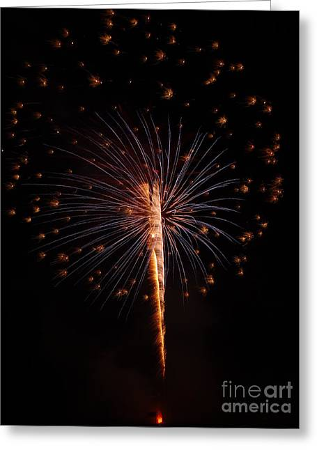 Shopiere Days Fireworks Greeting Card by Viviana  Nadowski