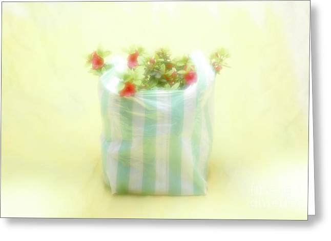Greeting Card featuring the photograph Shopping Bag by Hans Janssen