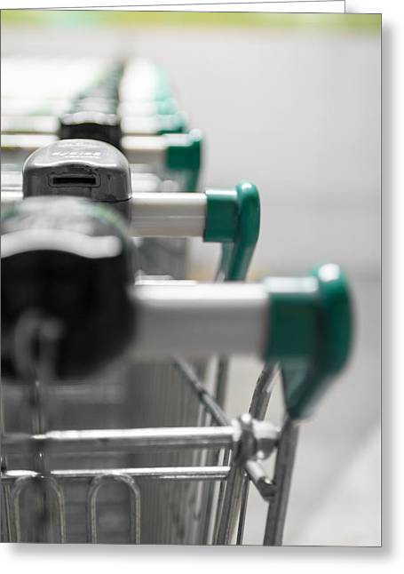 Shopping Carts Greeting Card by Germano Poli