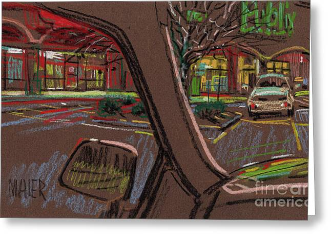 Shopping Greeting Card by Donald Maier