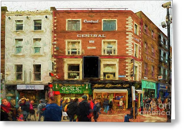 shopping on Grafton Street in Dublin Greeting Card