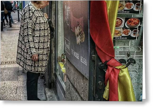 Shopping #streetphotography #flag Greeting Card