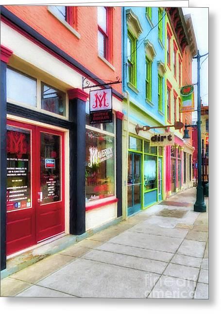 Shops At Cincinnati's Findlay Market # 6 Greeting Card by Mel Steinhauer