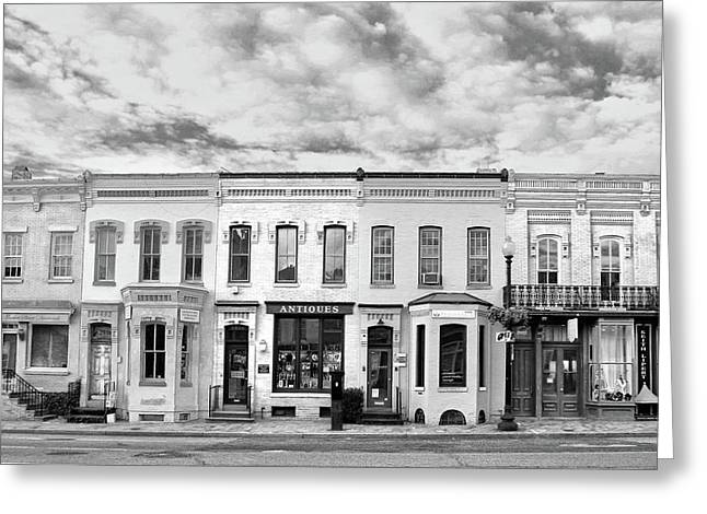 Greeting Card featuring the photograph Shops by Mitch Cat