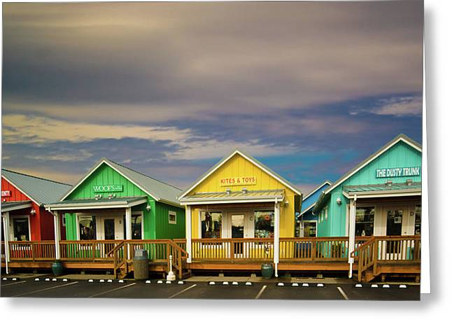 Ocean Shore Greeting Cards - Shops of Ocean Shores Greeting Card by Dale Stillman