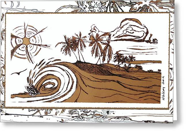 Shore Break Left Greeting Card by W Gilroy