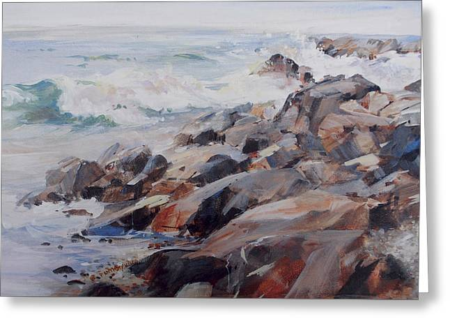 Shore's Rocky Greeting Card by P Anthony Visco