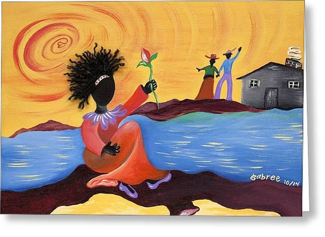 Shore Love Greeting Card by Patricia Sabree